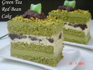Yochana S Cake Delight Green Tea Red Bean Cake