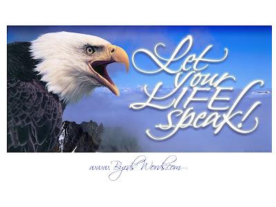 Motivational Wallpaper on life : let your life speak