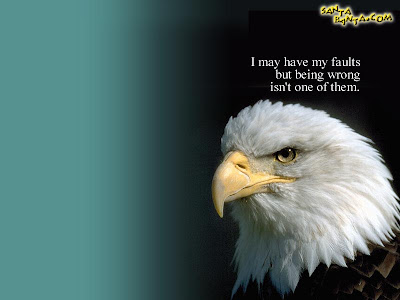 Inspirational Wallpaper with Quote: Know Your faults!
