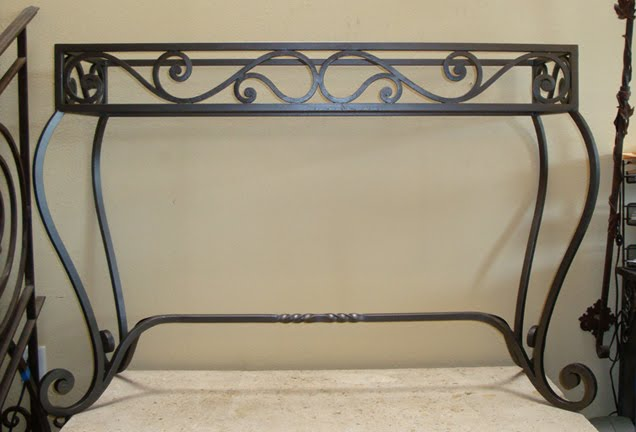 Potter Art Metal Studios: Wrought Iron Console Table