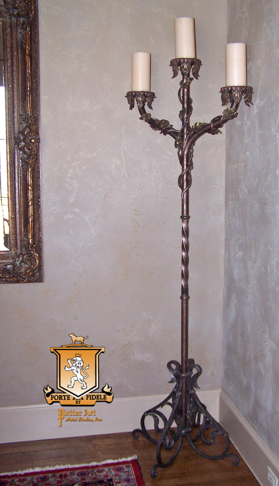 Potter Art Metal Studios Wrought Iron And Copper Floor