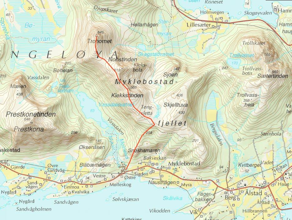 kart over steigen Toppturmania: Engeløya/Steigen: topptur til Trohor(645moh) i  kart over steigen