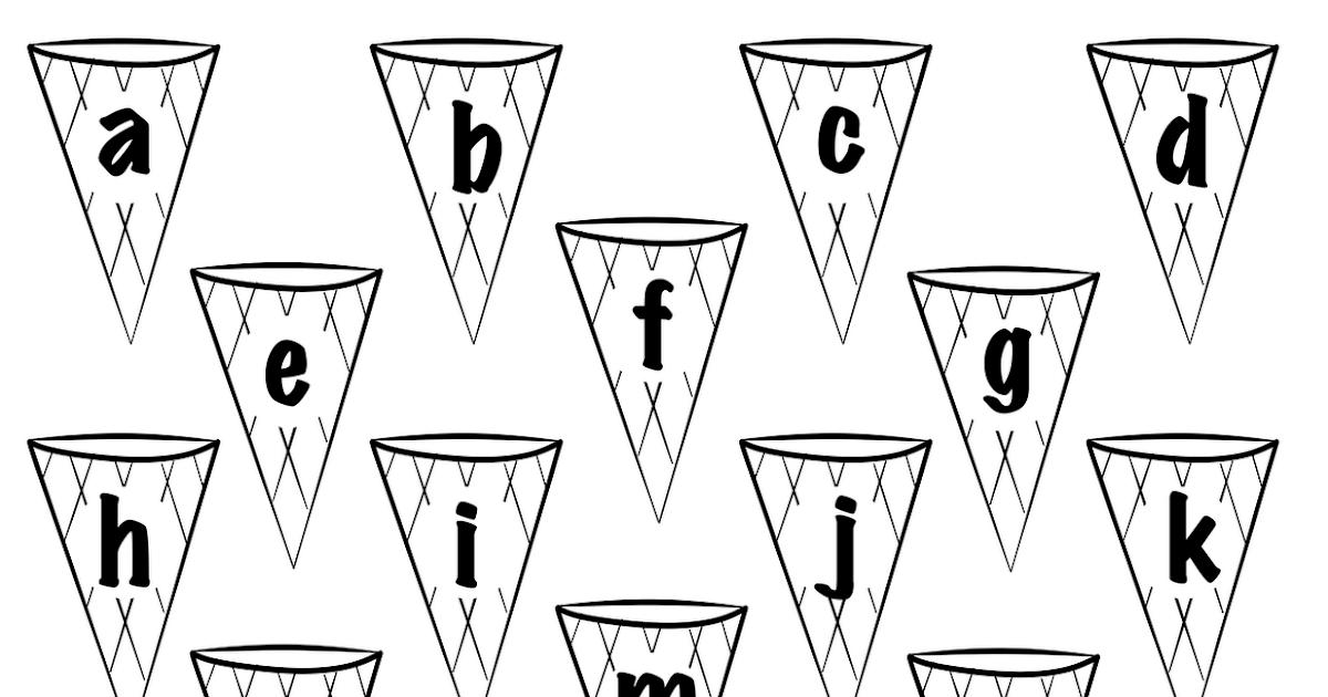 bust out your crayons: Ice Cream Letters