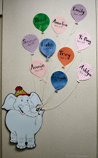 I Found The Elephant On Line And Enlarged Him Copier Think Next Time Will Make Ballon Plain Paper Mount Then Black Cardstock