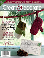I designed a snowman for the January issue of Create and Decorate magazine!