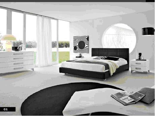 Decora y disena fotos dormitorios blanco y negro for Decoracion dormitorio matrimonio blanco