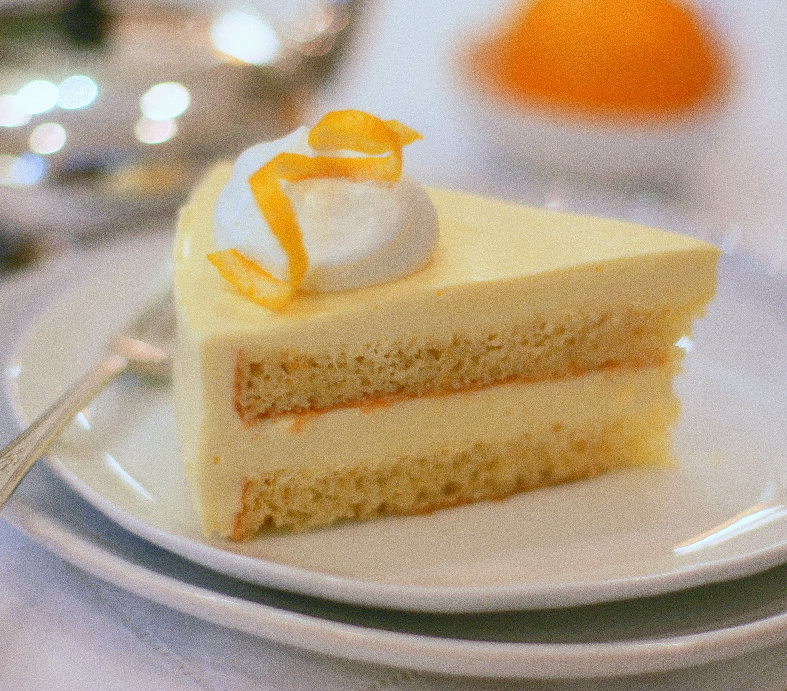 Meyer Lemon Mousse Cake