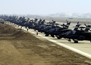 U.S. Apache helicopters at Asad Base, Iraq