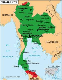 Carte Thailande Regions.Voyage Thailande Regions A Eviter