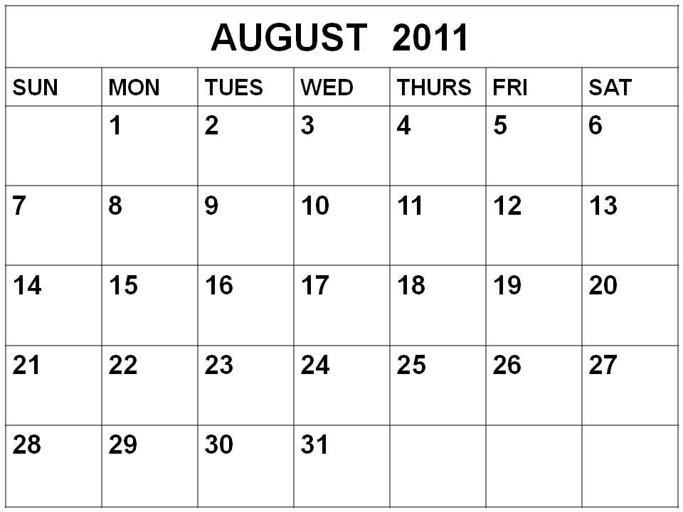 printable august calendar 2015