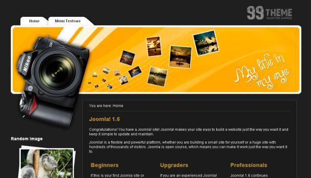 Free Photos Sharing Black Joomla Template