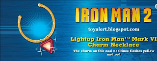 Burger King Iron Man 2 Toy Promotion - Light Up Iron Man Mark VI Charm Necklace