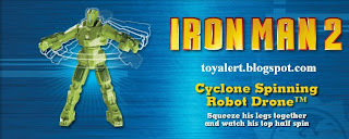 Burger King Iron Man 2 Toy Promotion - Cyclone Spinning Robot Drone Toy