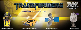 Burger King Transformers Revenge of the Fallen toys 2009 - set of 8 toys - Ravage Reveal, The Fallen Flip-out, Seeking Soundwave, Change Up Bumblebee