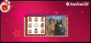 McDonalds American Girl books 2009 - Kaya - inside cover of Kaya book detail
