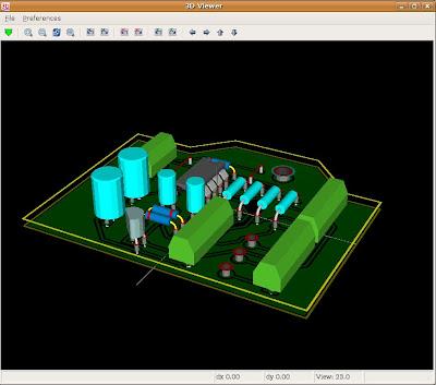 KiCAD v 3D pohľade