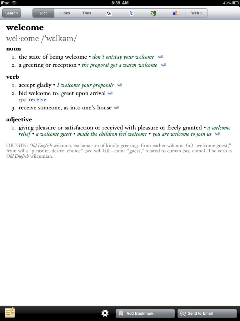 SFALingBlog: Dictionary & Word Apps to Soothe the Word