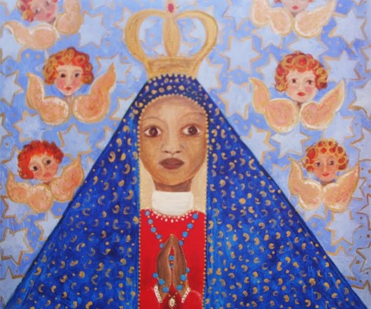 Educando Com Arte Nossa Senhora Da ConceiÇÃo Aparecida: Arte Naif: Nossa Senhora Da Conceição