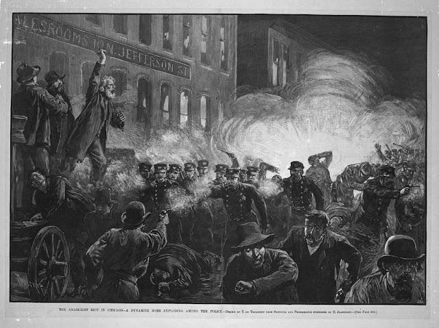 The Haymarket riot - image licensed via iCopyright.