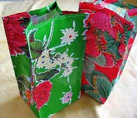 oilcloth lunch sacks