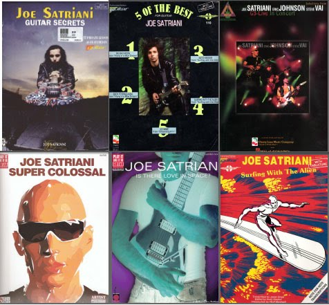 Guitar guitar tabs book : Guitar Maniacs: Joe Satriani - Guitar Tab Books (16 books)