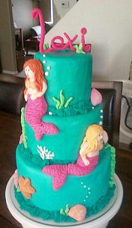 Mermaids Utah Childrens Birthday Cakes