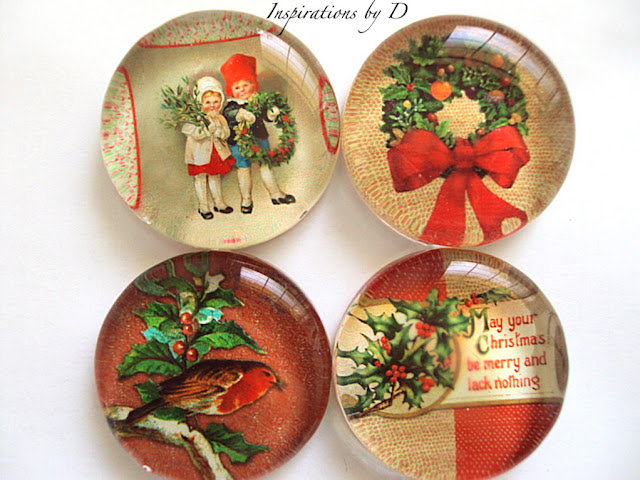 Christmas Glass Magnets