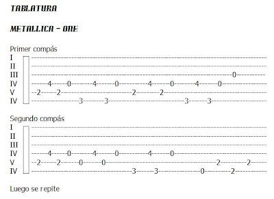 academia de guitarra popular tablatura metallica one 1a parte. Black Bedroom Furniture Sets. Home Design Ideas