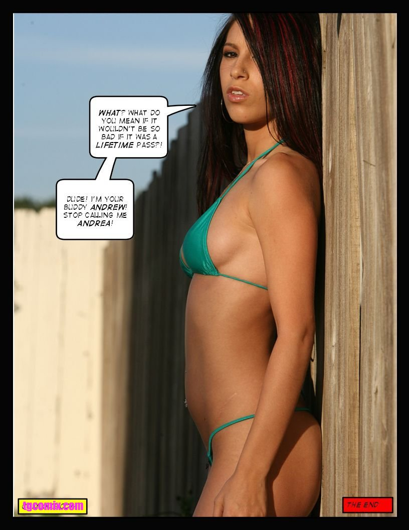 Tg captions bikini thought differently