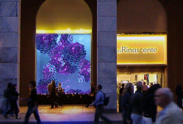 Daniela wurdack otto artisti per otto vetrine della for Carta rinascente