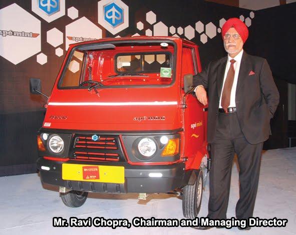 Piaggio Launches Ape Mini Half Tonne Mini Truck
