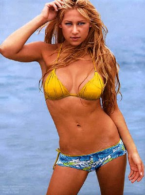 kournikova and yellow bikini Google