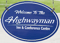 Entry sign for the Highwayman Inn, Orillia