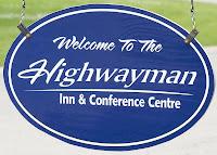 Entry sign for the Highwayman Inn, Orillia