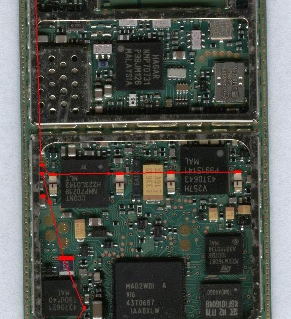 Nokia 3310 positive suply pcb circuit layout diagram