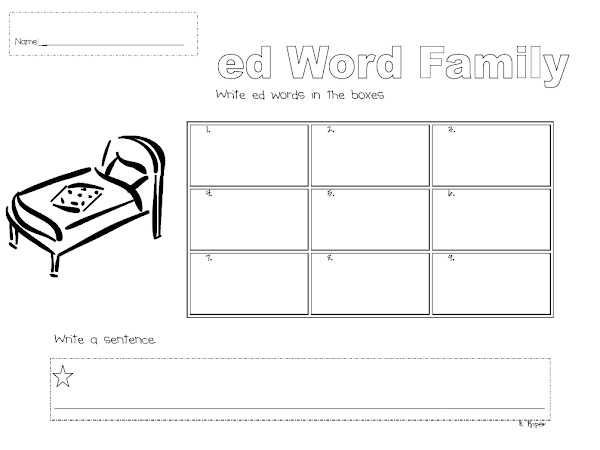 ed word family