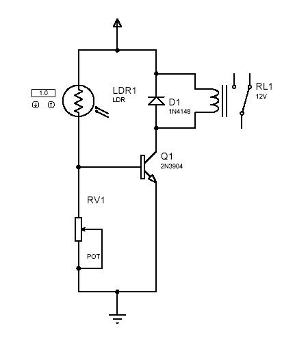 light switch or light activated relay