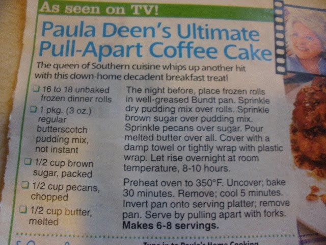 Delicious Dishes Paula Deen S Ultimate Pull Apart Coffee Cake