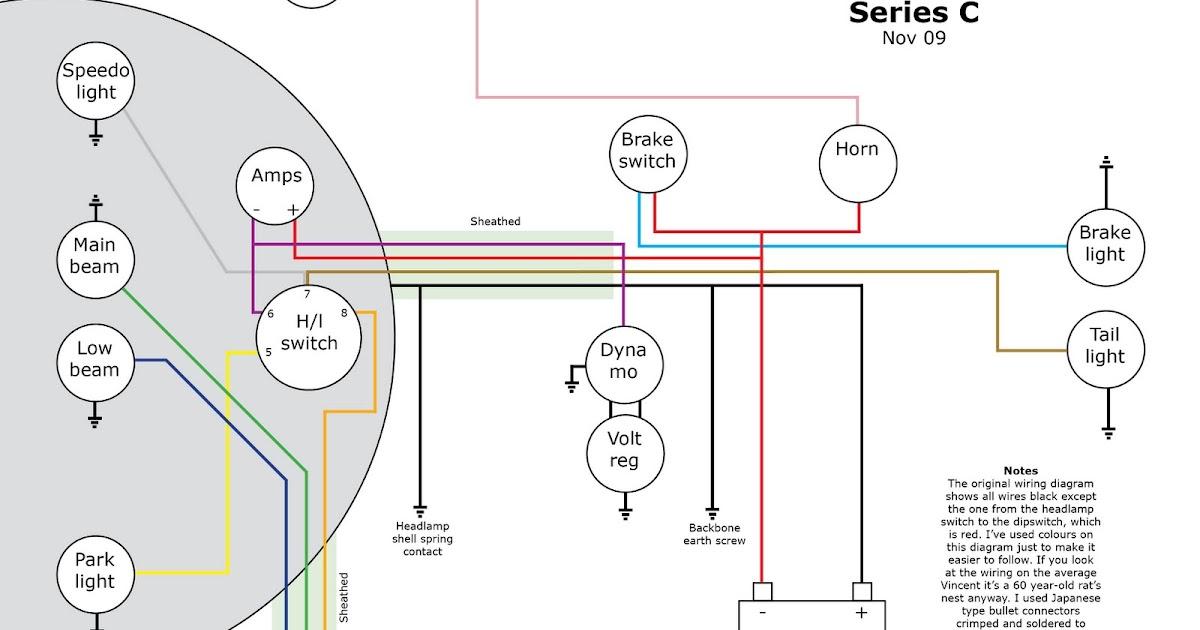 Old Bike Hack A Vincent Series C Wiring Diagram