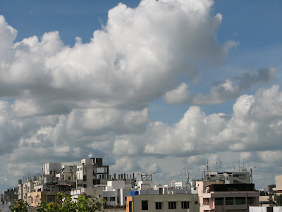 Beautiful cloud formations in a beautiful sky in Hyderabad