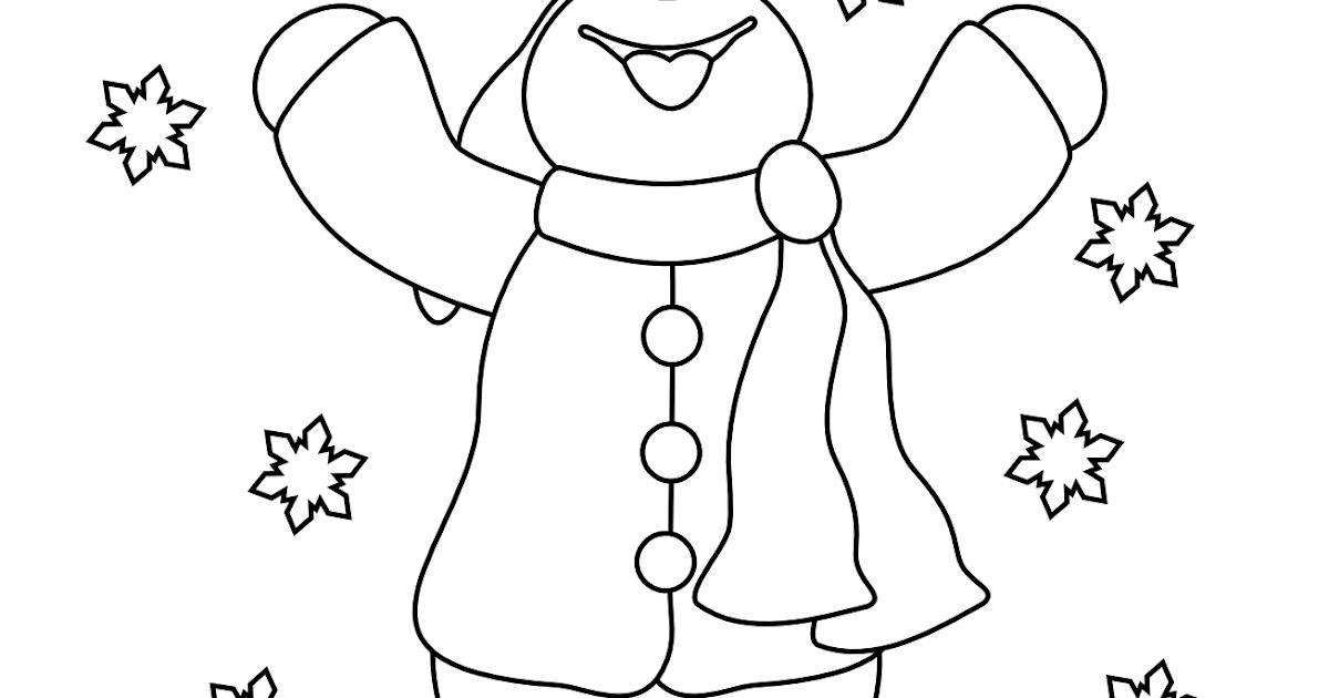 Free Snowman Digi Stamp
