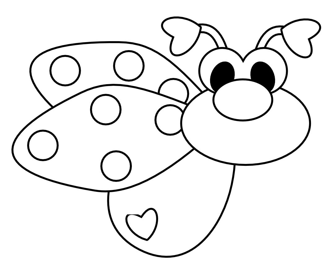Free Love Bug Ladybug Digi Stamp
