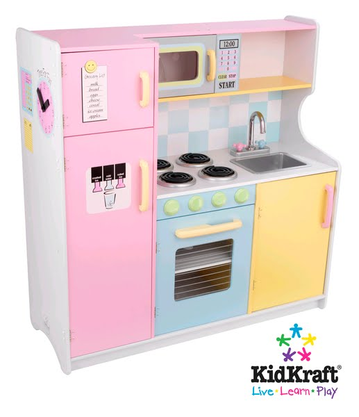 Kidcraft Vintage Kitchen Counter Designs Children's Wooden Toys Toy Play Furniture ...