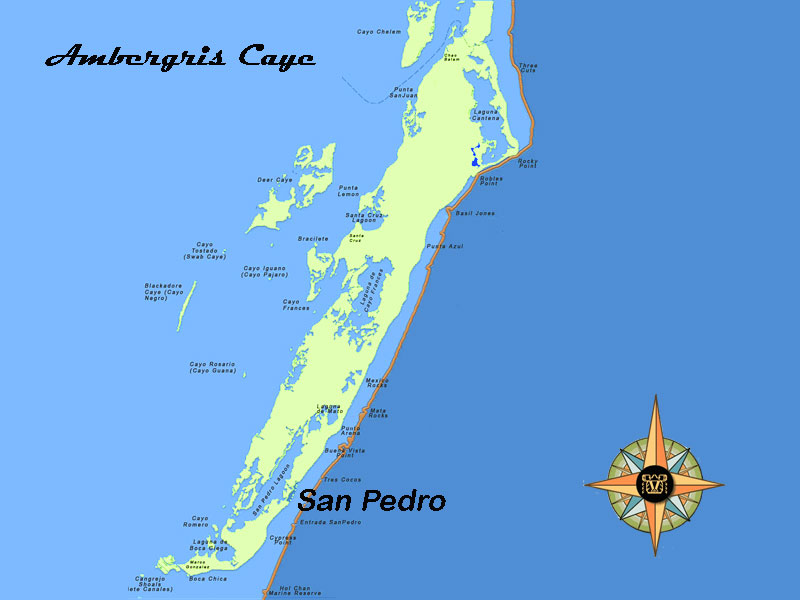 Ambergris Caye Condo Map