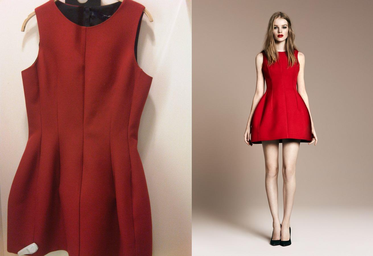 zara red dress - Dress Yp