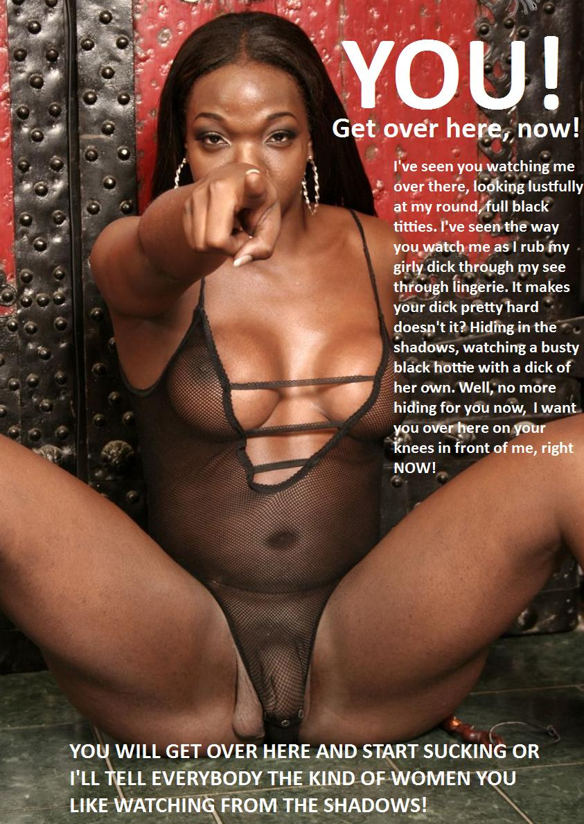 Black Shemale Mistress Captions-8028
