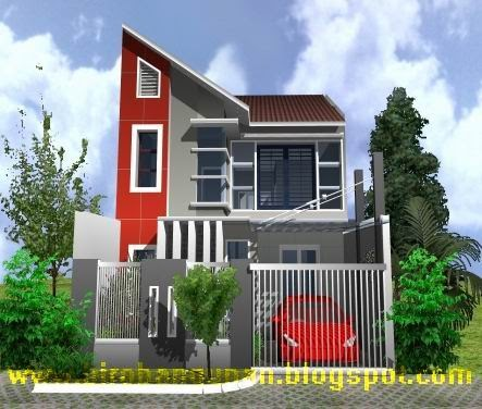 Desain Rumah Pak Septa  Desain Rumah bergaya villa dengan