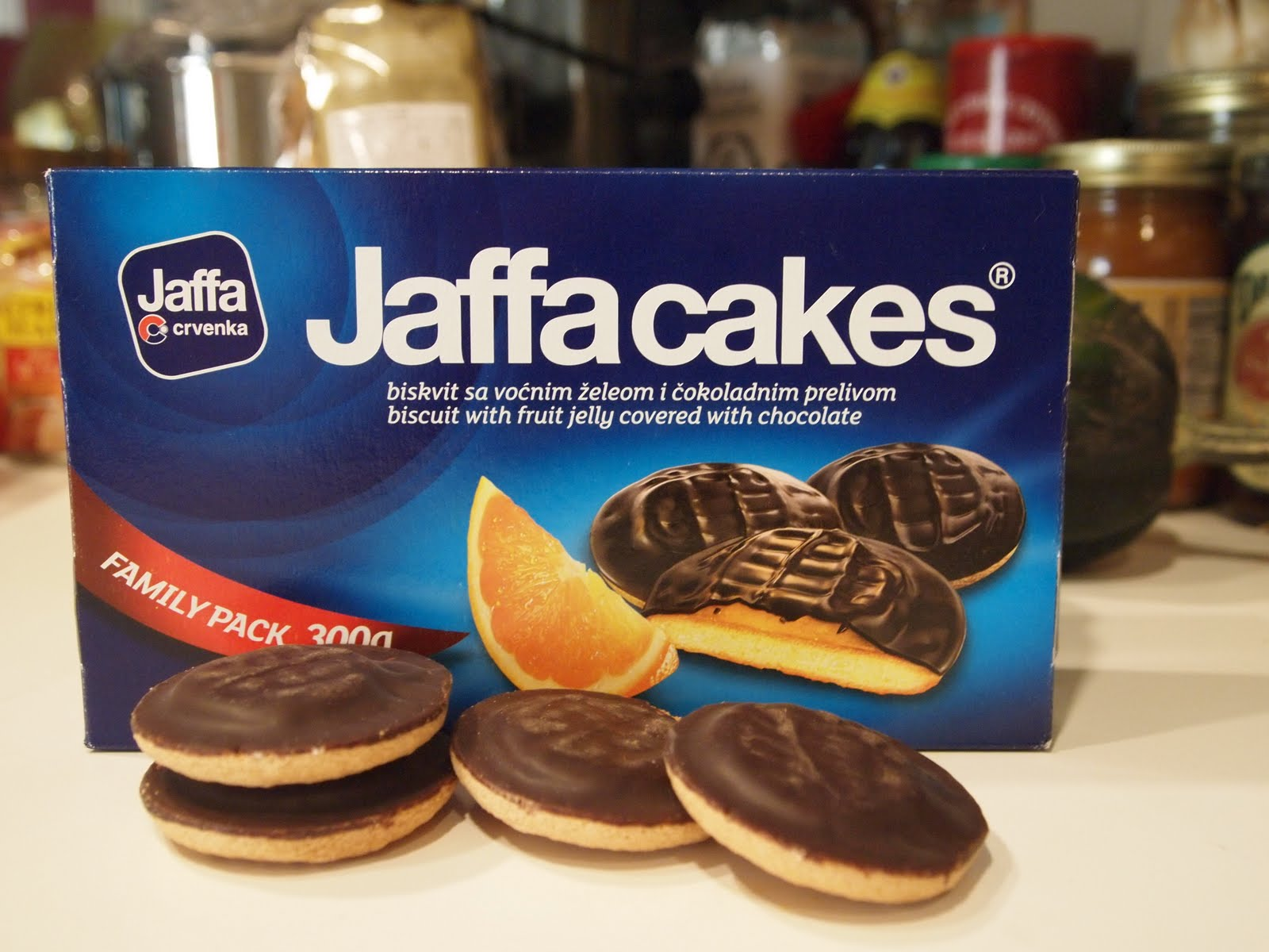 White Chocolate Jaffa Cakes