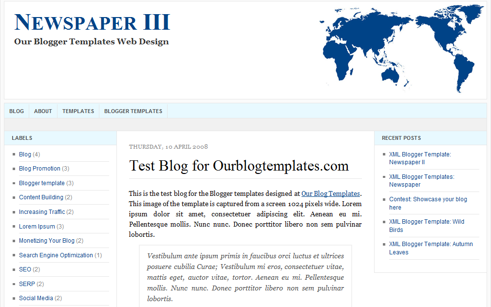 Our Blogger Templates Xml Blogger Templates Newspaper Iii