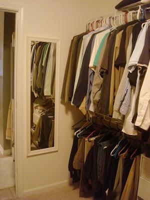 after removing door in closet